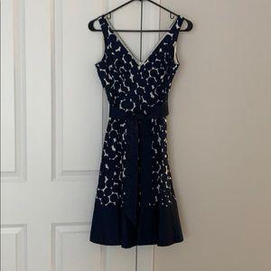 Beautiful Nine West Navy polka dot dress